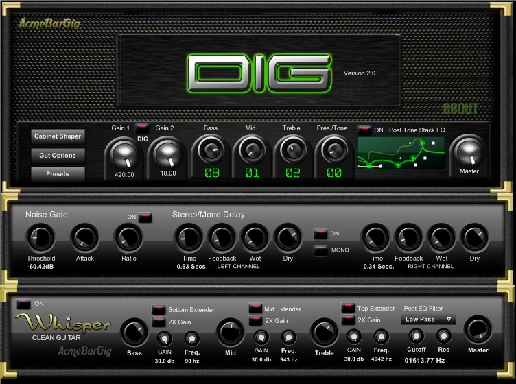 acmebargig dig 2 0 a freeware vst guitar amp simulator for windows. Black Bedroom Furniture Sets. Home Design Ideas