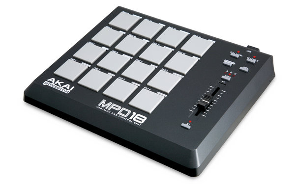 akai professional mpd18 portable pad controller now shipping. Black Bedroom Furniture Sets. Home Design Ideas