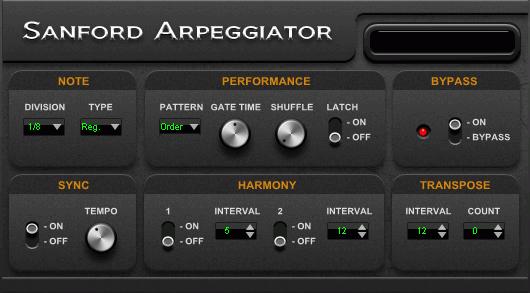 Sanford Arpeggiator, a versatile and powerful arpeggiator ...