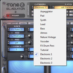 Tone2 Electronic for Gladiator 2