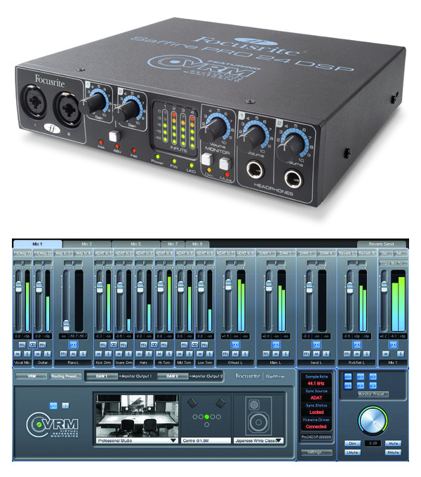 focusrite saffire pro 24 dsp firewire audio interface with real time dsp powered tracking and. Black Bedroom Furniture Sets. Home Design Ideas