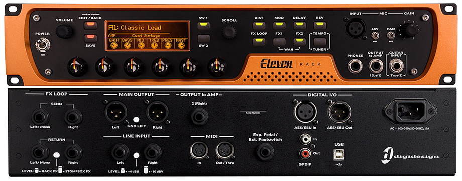 Digidesign Eleven Rack A Standalone Hardware Unit That