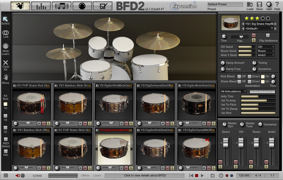 Fxpansion bfd signature snares vol 1 expansion pack a for Yamaha expansion pack