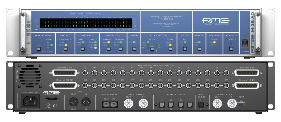 RME M-32 A and M-32 DA converters with MADI and ADAT interface now ...