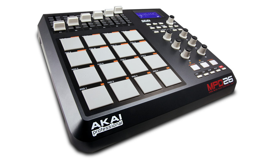 akai professional mpd26 a usb midi pad controller with genuine mpc pads. Black Bedroom Furniture Sets. Home Design Ideas