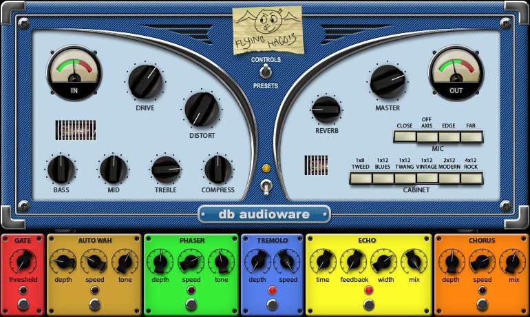 db audioware flying haggis virtual guitar amp effect now 10 usd. Black Bedroom Furniture Sets. Home Design Ideas