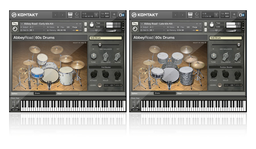 Native Instruments Abbey Road 60s Drums KONTAKT for Mac (1 dvd)