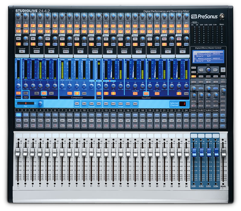 presonus studiolive 24 4 2 digital mixer now shipping. Black Bedroom Furniture Sets. Home Design Ideas