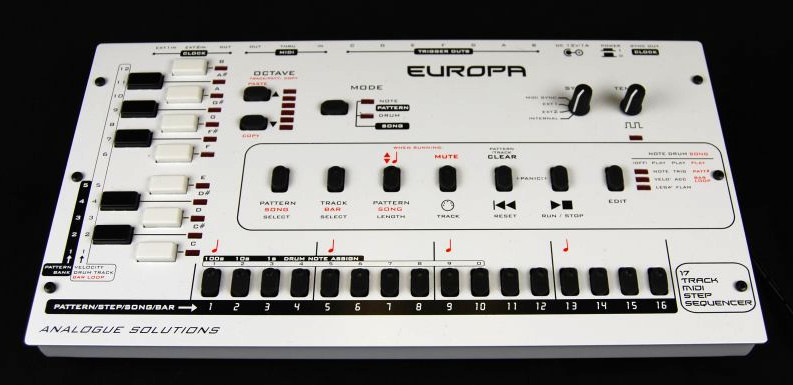 analogue solutions europa a hardware midi step sequencer and drum computer. Black Bedroom Furniture Sets. Home Design Ideas