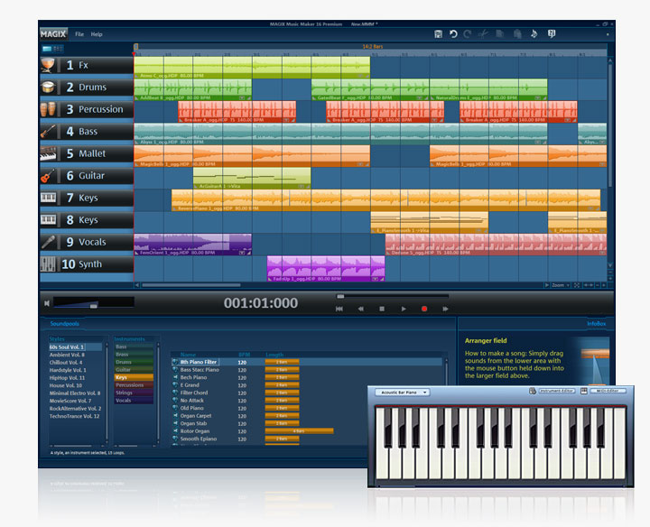 magix music maker how to add vst instruments