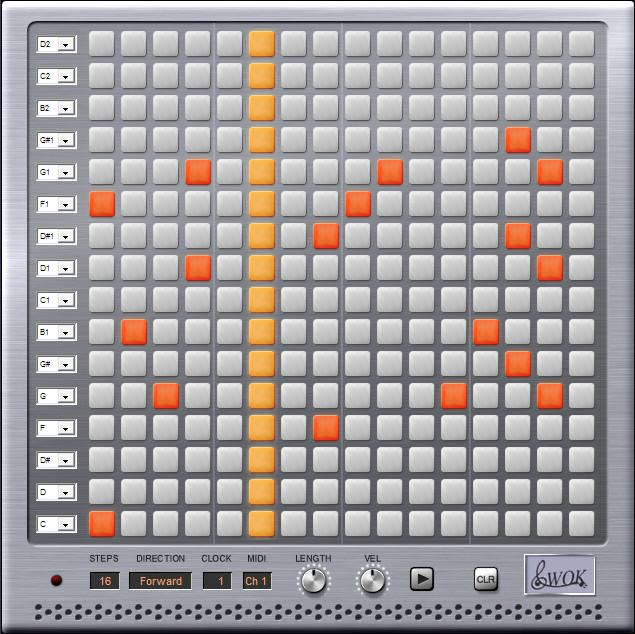 wok blip2000 a matrix step sequencer plug in for windows pc. Black Bedroom Furniture Sets. Home Design Ideas