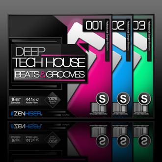 Zenhiser deep tech house grooves beats sample packs for Zenhiser classic house drum sounds