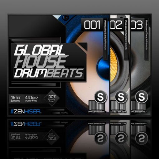 Zenhiser global house drum beats and the techno for Zenhiser classic house drum sounds
