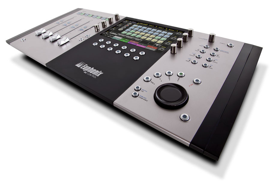 euphonix mc control v2 new flagship media controller offers enhanced graphics and improved