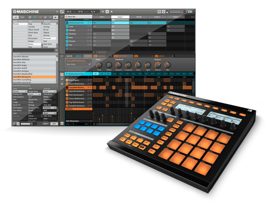 native instruments maschine version 1 5 update adds classic drum machine features improved. Black Bedroom Furniture Sets. Home Design Ideas
