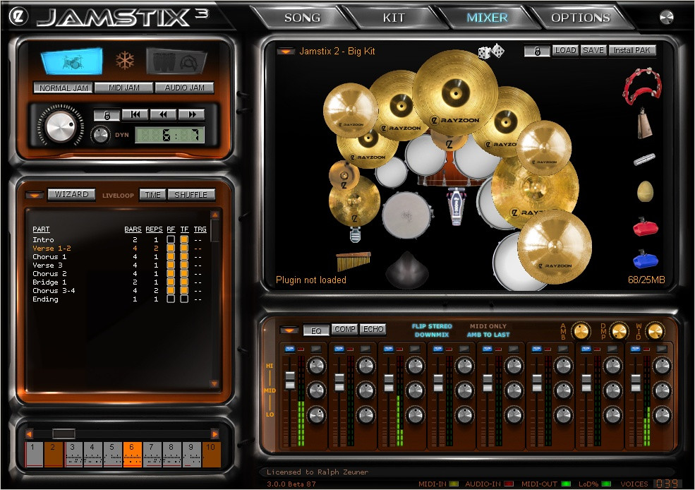 Windows 7 Vista XP Music Software Drums - Percussion (Hitsquad)