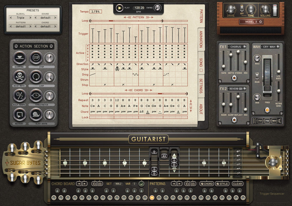 sugar bytes guitarist complete guitar software for pc and mac now available. Black Bedroom Furniture Sets. Home Design Ideas
