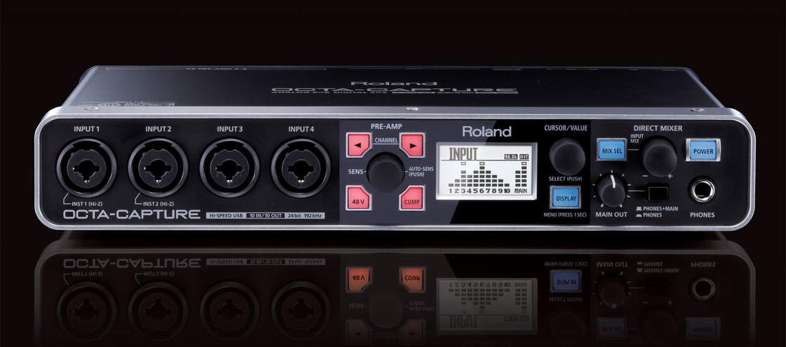 roland octa capture 10x10 24 bit 192 khz hi speed usb audio interface. Black Bedroom Furniture Sets. Home Design Ideas