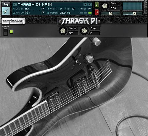 SampleOddity Thrash DI, free multisampled guitar library for NI ...