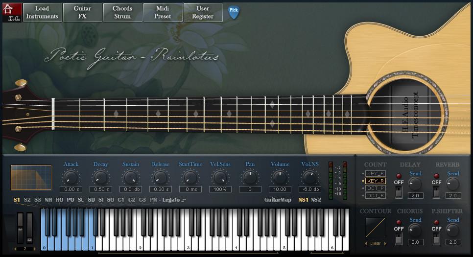 h e audio pgr poetic guitar rainlotus virtual acoustic guitar instrument for windows. Black Bedroom Furniture Sets. Home Design Ideas
