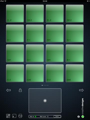crossfire designs midipadz lite free midi drumpad controller app for ios 4 2. Black Bedroom Furniture Sets. Home Design Ideas