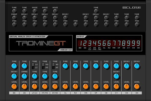 marvin pavilion tromine gt v0 1 virtual tr 808 drum synthesizer plugin for windows. Black Bedroom Furniture Sets. Home Design Ideas