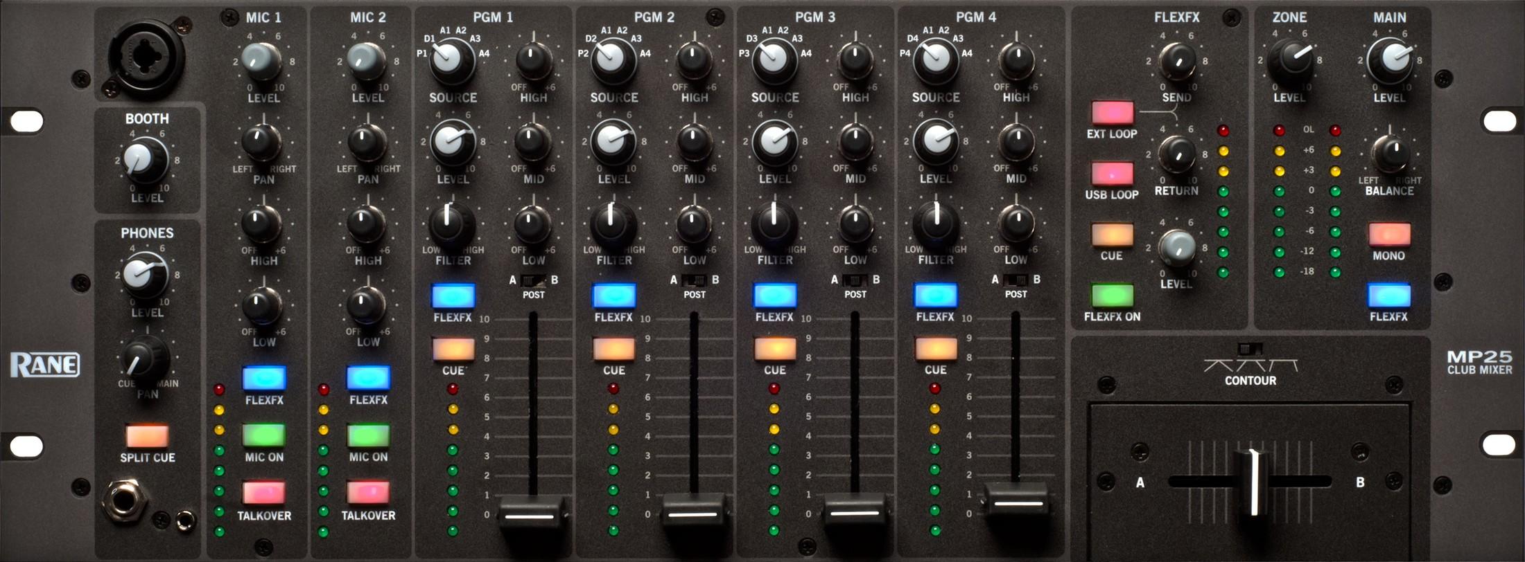 Rane Mp25 Dj Mixer With Usb Audio Interface