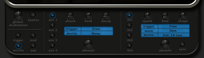 RP-Delay Enevlope/LFO section