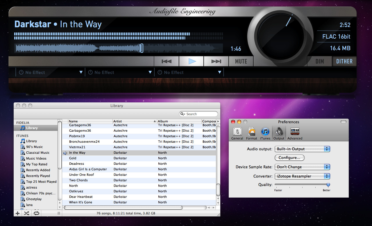 Audiofile Engineering Fidelia, desktop music player for Mac released