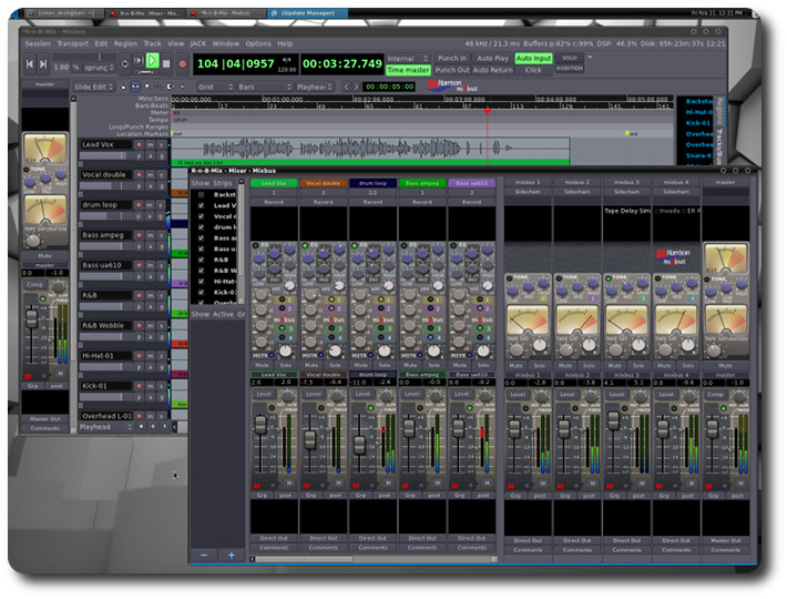 Harrison Mixbus, console mixing software now available on