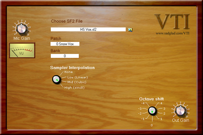 Soft Dodo Voice To Instrument (VTI), VST plugin for