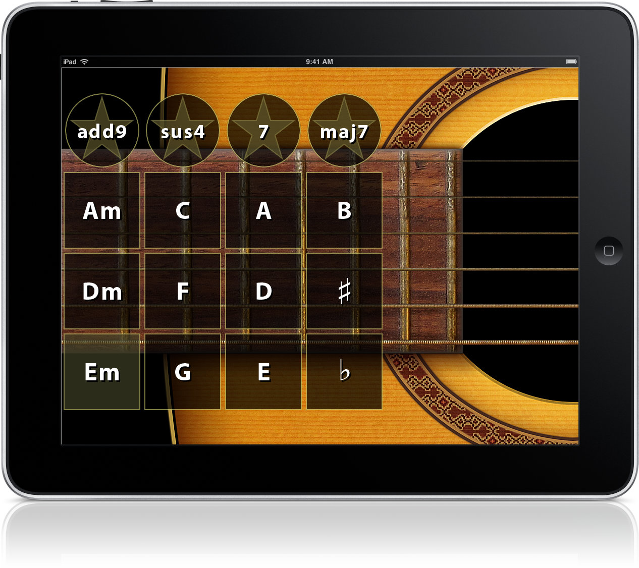 wallander instruments wi guitar guitar music app for iphone ipad. Black Bedroom Furniture Sets. Home Design Ideas