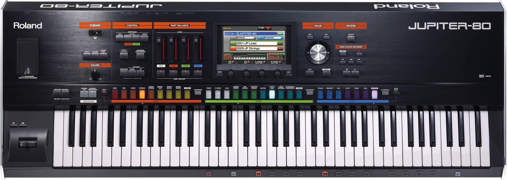 roland jupiter 80 synthesizer introduced at musikmesse. Black Bedroom Furniture Sets. Home Design Ideas