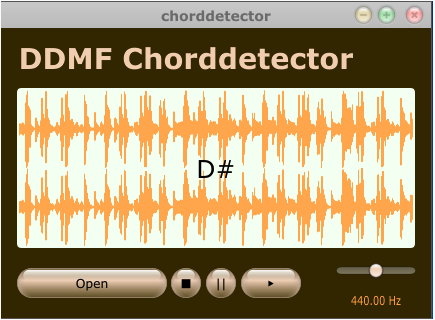 DDMF Chorddetector, mp3/wav-player with an integrated chord detection