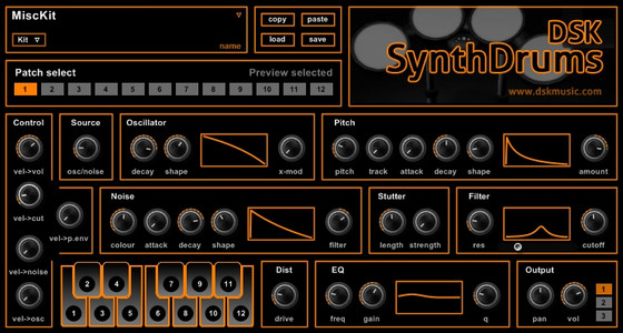 DSK Music SynthDrums