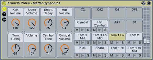 Synsonics for Ableton by Francis Prève