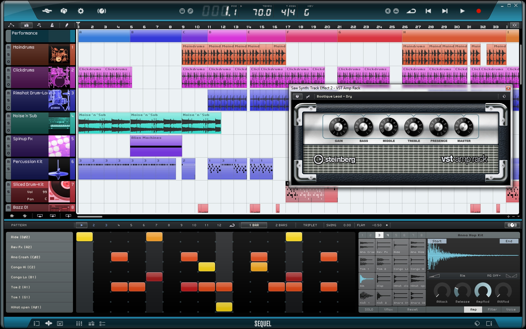 steinberg sequel 3 music creation and performance software