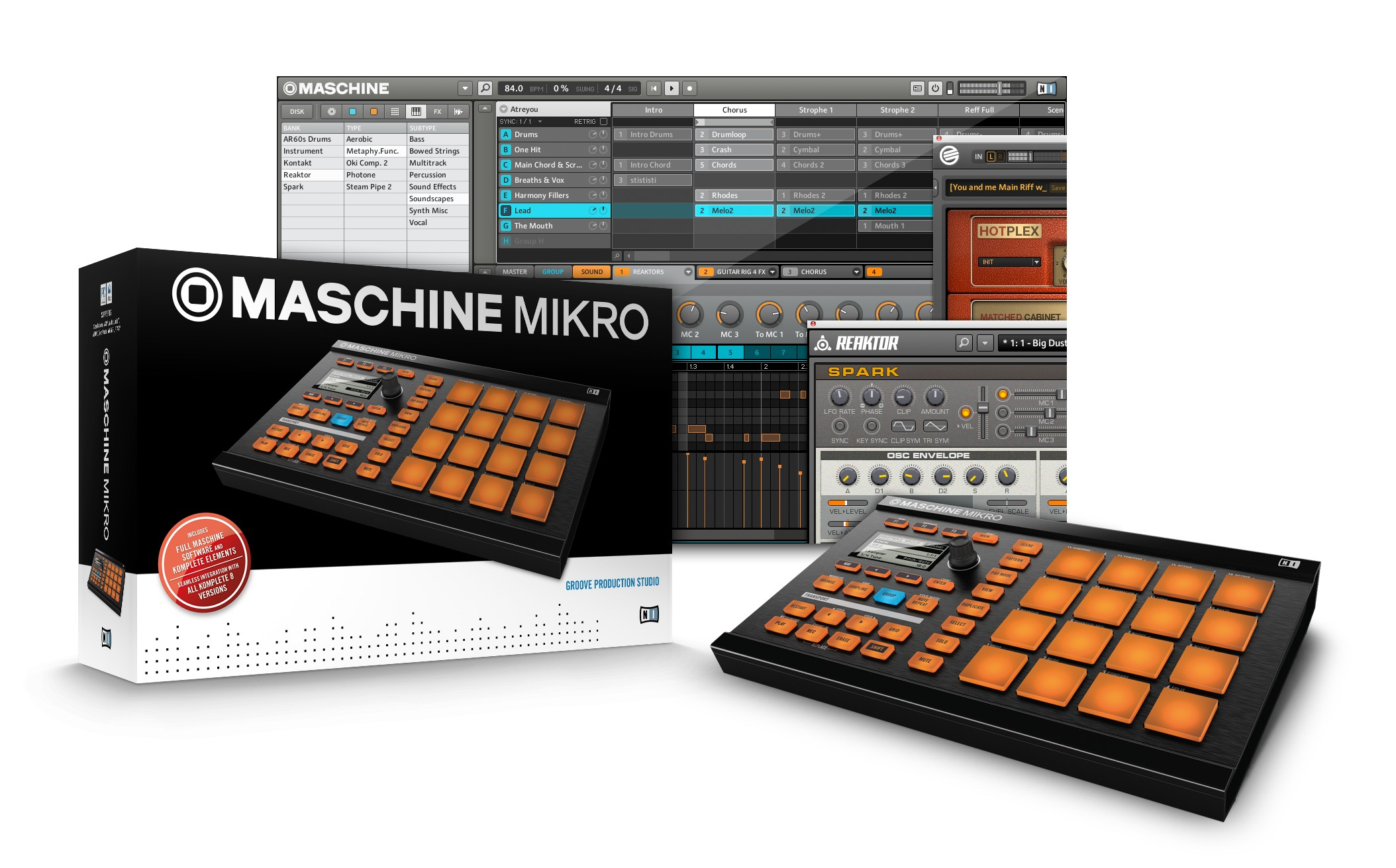 native instruments maschine mikro now available worldwide. Black Bedroom Furniture Sets. Home Design Ideas
