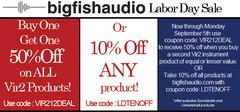 Big Fish Audio Labor Day Sale
