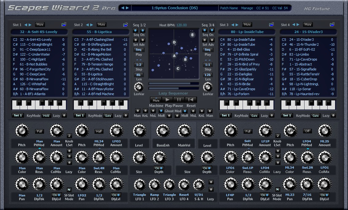 H G  Fortune Scapes Wizard 2 for Windows + free SoundFonts