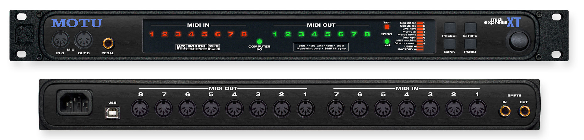 motu midi express xt 128 channel usb midi interface. Black Bedroom Furniture Sets. Home Design Ideas