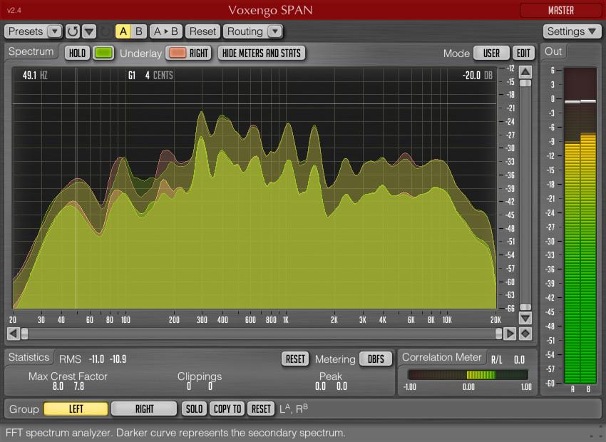 Voxengo SPAN audio spectrum analyzer plugin updated to v2 4