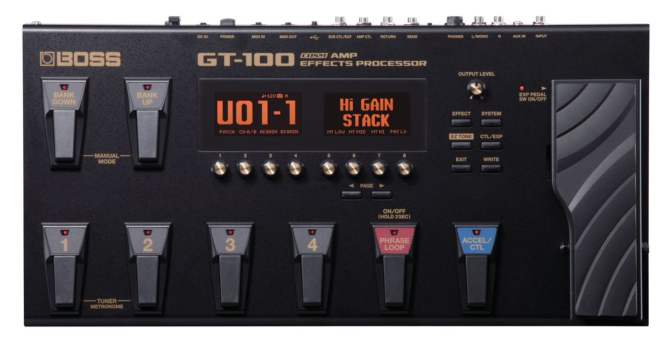 Boss intros gt 100 amp effects processor