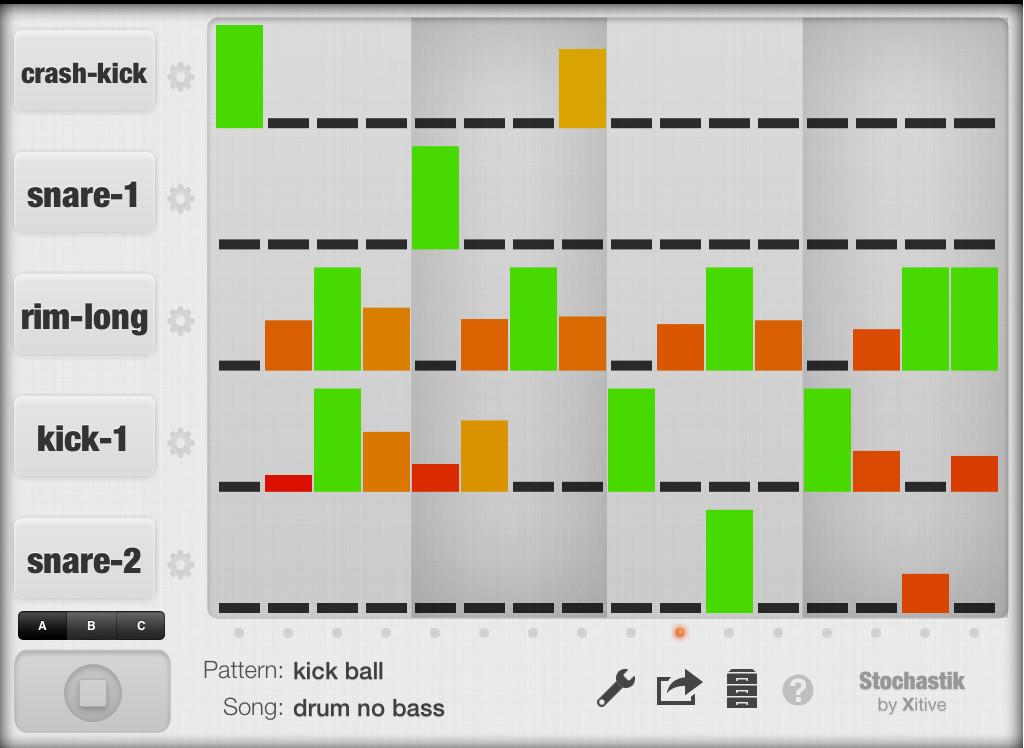 xitive stochastik drum machine app for ipad. Black Bedroom Furniture Sets. Home Design Ideas