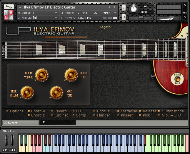 ilya efimov lp electric guitar sample library for native instruments kontakt. Black Bedroom Furniture Sets. Home Design Ideas