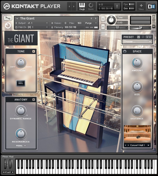 Native Instruments The Giant upright piano sound library for Kontakt ...