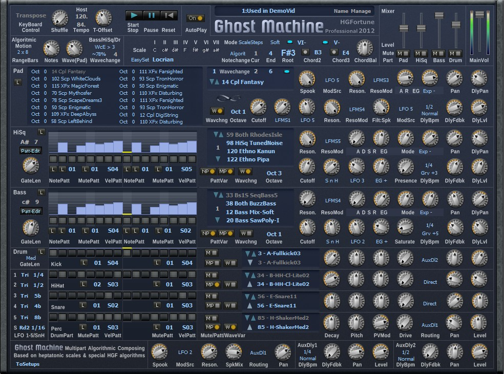 H G  Fortune Ghost Machine VST instrument plugin for Windows