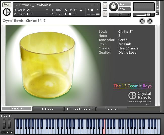 8mosphere Crystal Bowls sound library for NI Kontakt Player