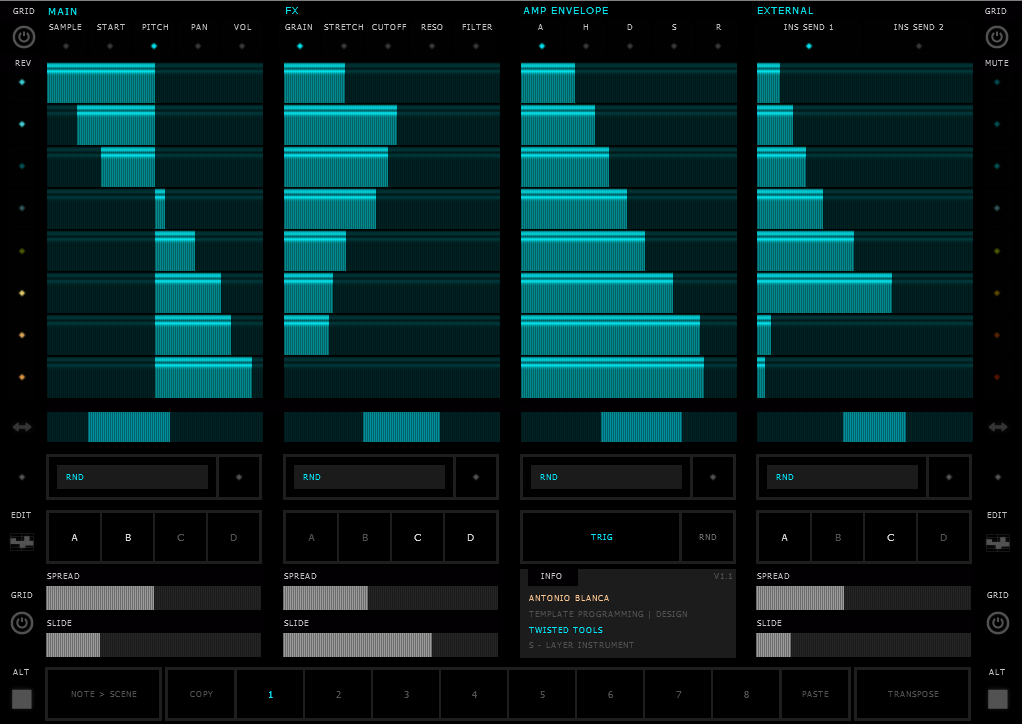 Twisted Tools S Layer For Ni Reaktor 5
