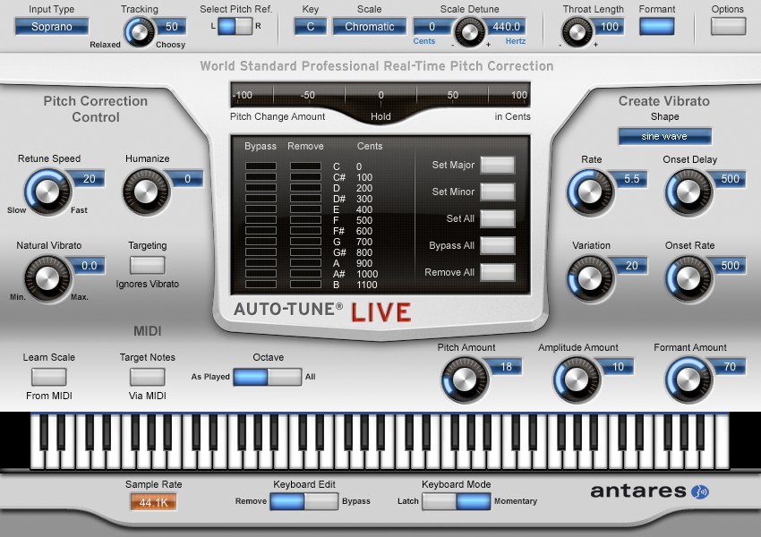antares auto tune live ultra low latency and comprehensive midi control. Black Bedroom Furniture Sets. Home Design Ideas